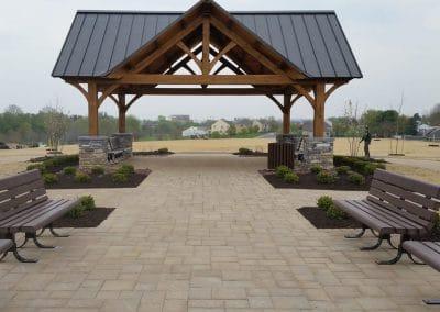Entrance view of pavilion & patio