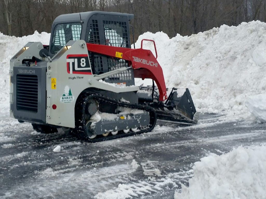 Snow plow bulldozer