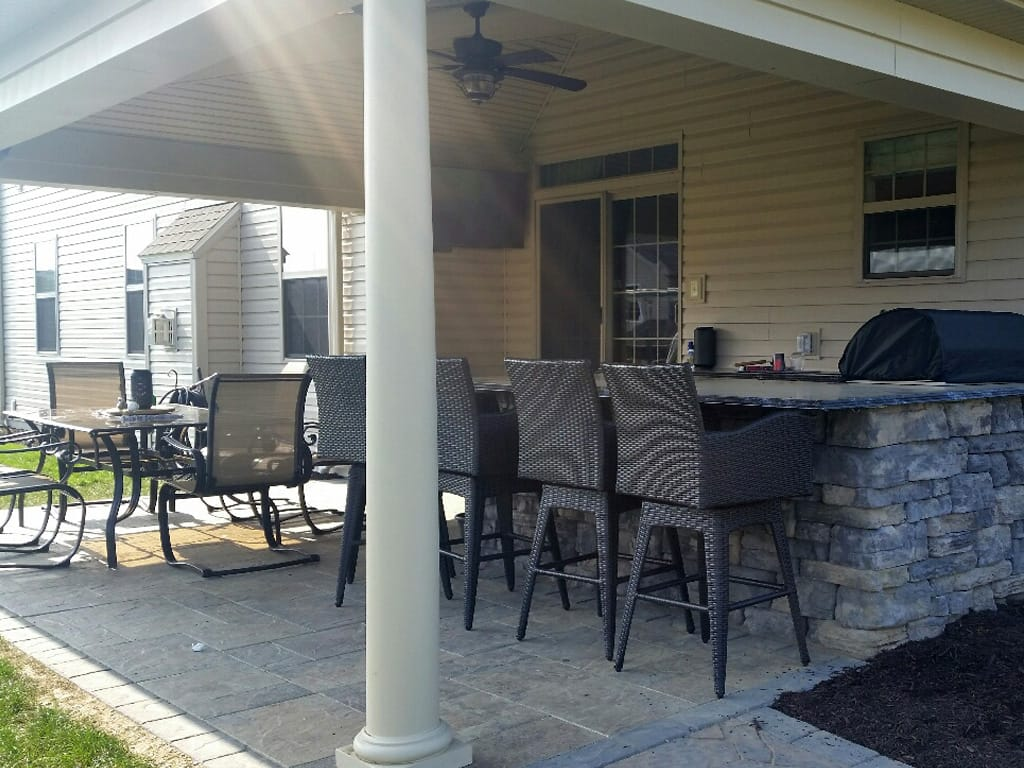 Entrance to covered outdoor kitchen & patio