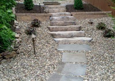 Canyon Irregular steps leading to the backyard