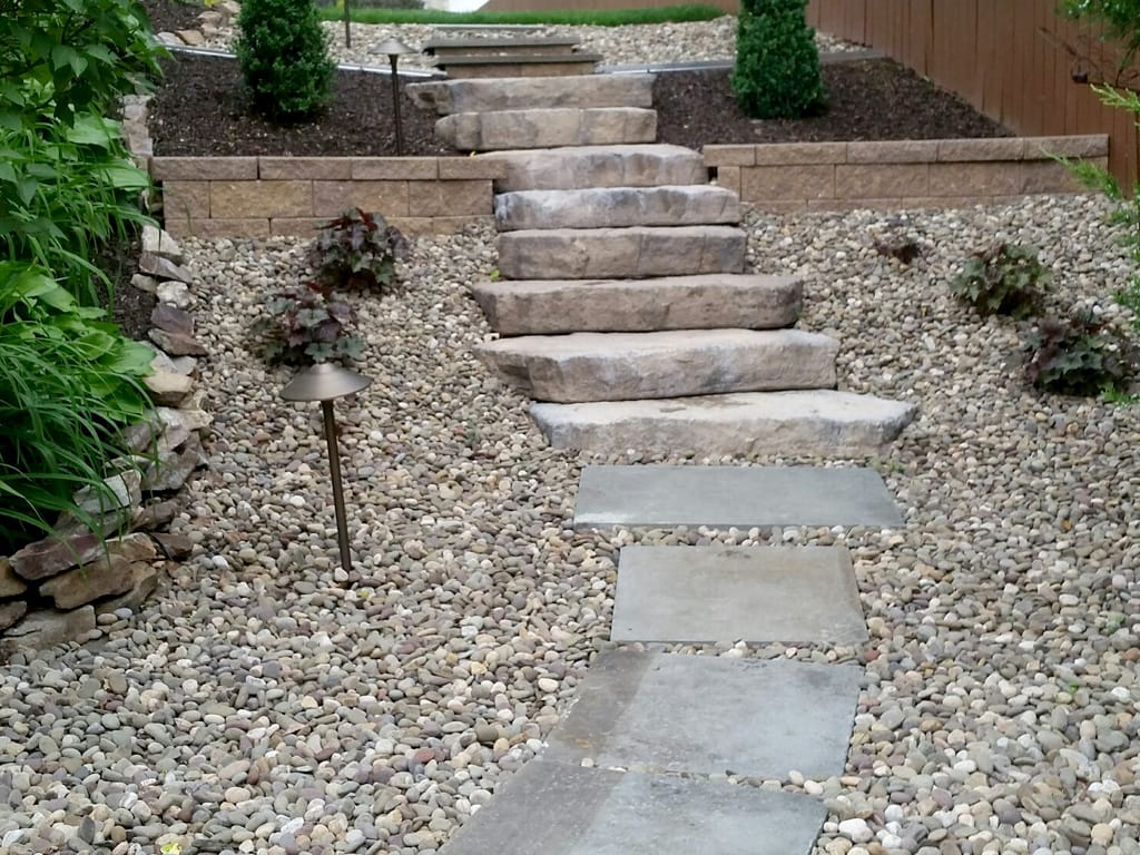Canyon Irregular steps leading to the backyard