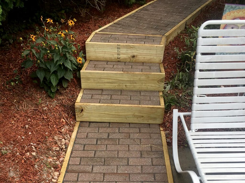 Refurbished walkway and steps