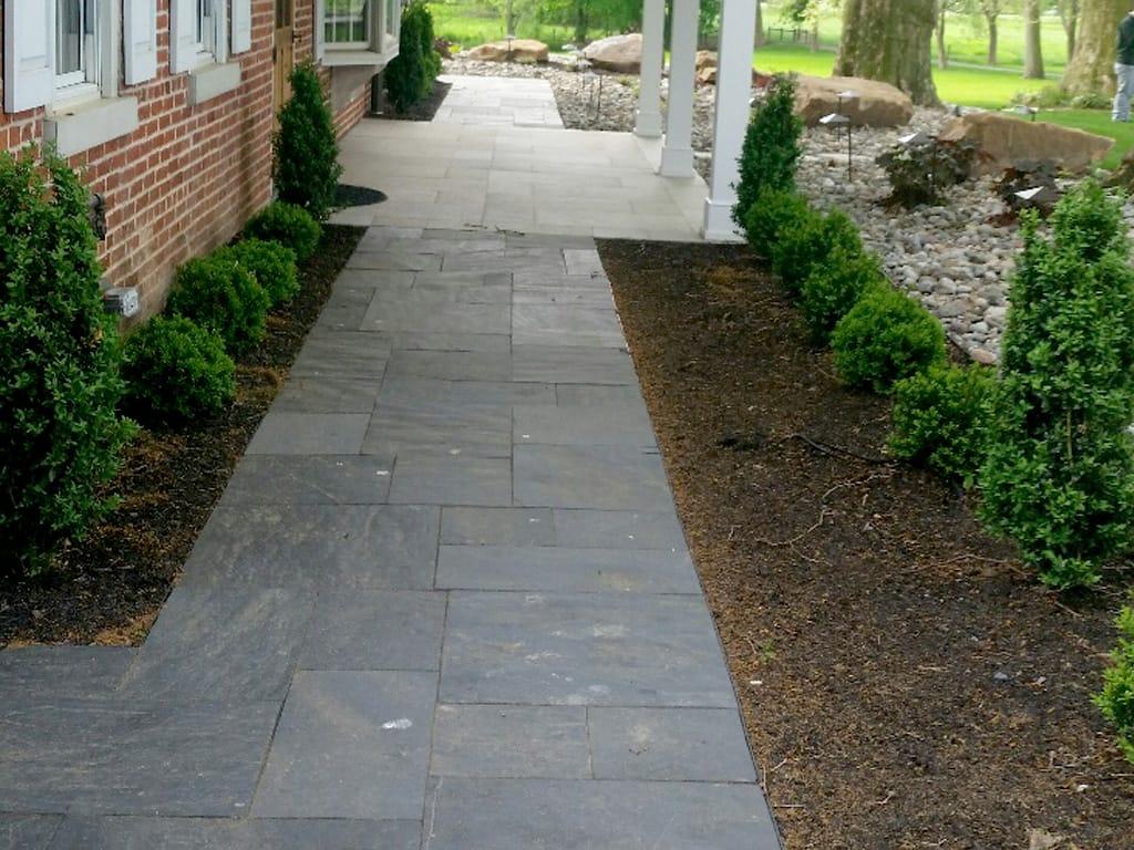 Black slate walkway